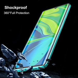 Image 4 - 360º Curved Screen Front+Back Double sided Full Body Metal Magnetic Adsorption Flip Protective Case Xiaomi Mi Note 10 CC9 Pro