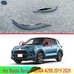 Dla Toyota Raize A200A A200 2019 2020 ABS chromowe lusterko boczne lusterko boczne skrzydło Chrome pokrywa wykończenia odlewnictwo Bezel Car Styling w Chromowane wykończenia od Samochody i motocykle na
