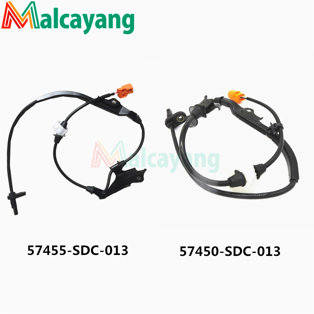 2pcs/lot ABS Wheel Speed Sensor Front Left & Right 57455SDC013 57450SDC013 For Honda Accord Civic <font><b>Acura</b></font> <font><b>TSX</b></font> 2003 2004 2005-2008 image