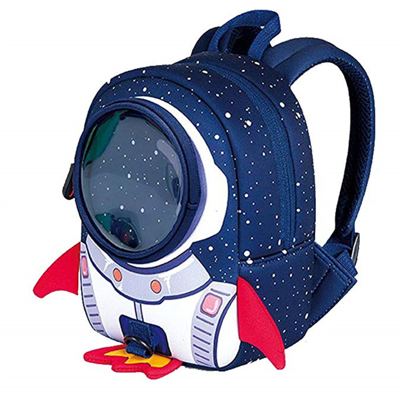 3D Rocket Anti-lost Student Bag Girl Cartoon High-end Toy Boy Backpack Kindergarten Schoolbag Child Space Astronaut Space Flight