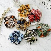 1 Pcs Hair Accessories Women Scrunchie Ponytail Holder Flower Scrunchies Pack Ties Elastics Bands For Girls