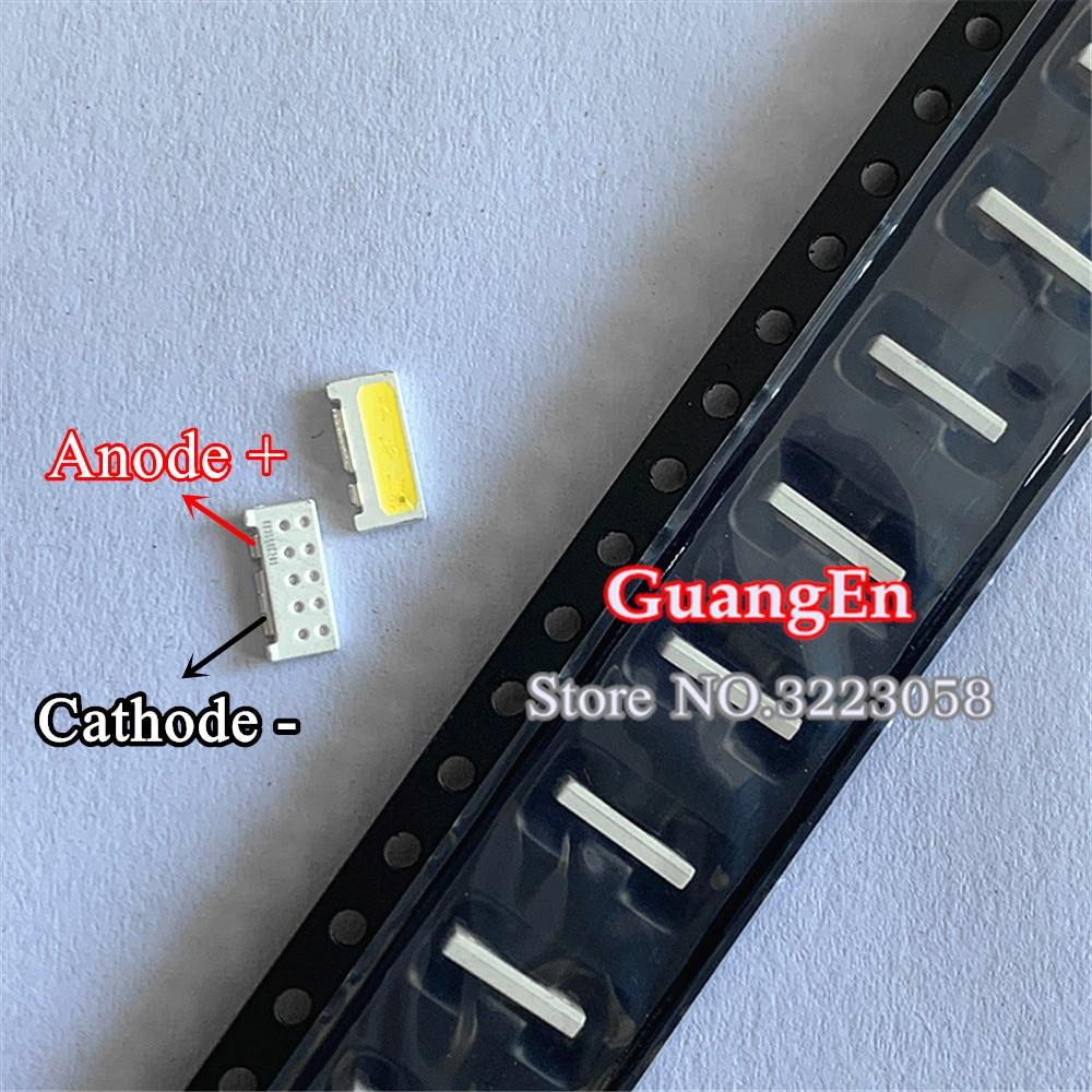 200PCS/Lot Original For LUMENS Edge SMD LED 7032 6V 1W 200mA Cool White High Power For TV Backlight Lamp Bead