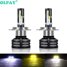 OLPAY 2PCS H4 H1 H3 H7 H11 H8 H13 H27 880 881 9005  9006 D1S D2S Led Headlight Bulbs 120W 20000LM Car Styling 3000K 6000K 10000K 2x f2 csp cob car led headlamp auto headlight bulbs lamp h3 h4 h7 h8 h13 h27 880 9004 9005 9006 900 led 4800lm 6500k 4300k 3000k
