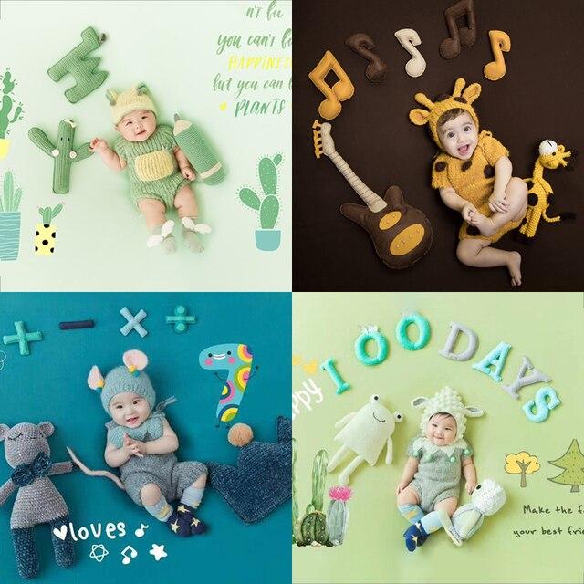 Newborn 100 Days Photo Frame Costume Photo Background Prop Creative DIY Theme Photographic Clothing Studio Shooting Photo Prop 3