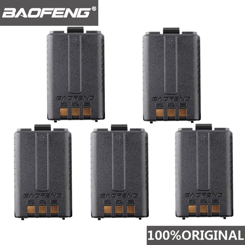 5pcs Original New Baofeng UV-5R 1800mah BL-5 Black Green Blue Red Yellow Li Battery For Ham Radio UV 5R 5W 8W F8+ Walkie Talkie