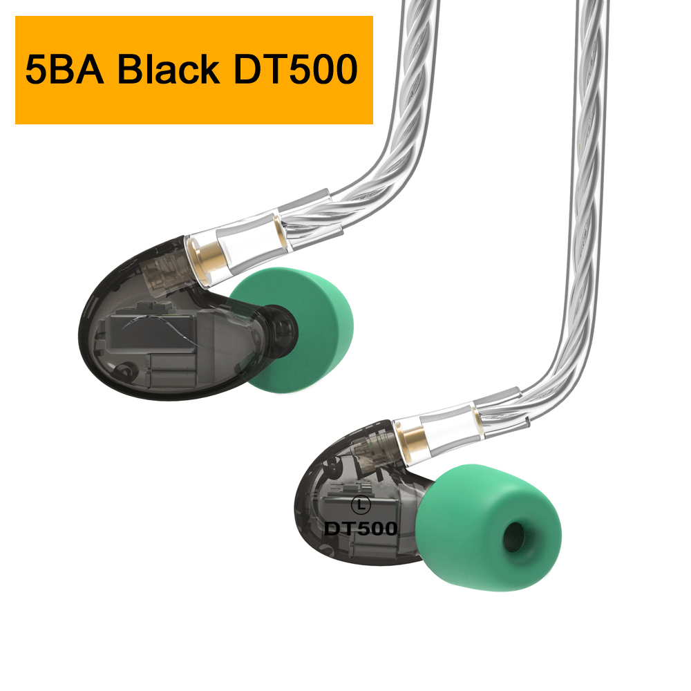 NICEHCK DT600 6BA/DT500 5BA/DT300 3BA Drive Unit In Ear Earphone 6/5/3 Balanced Armature Detachable MMCX HIFI Sports Headset