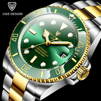 2020 New LIGE Brand Luxury Men Watches Automatic Blue Watch Men Stainless Steel Waterproof Business Sport Mechanical WristWatch