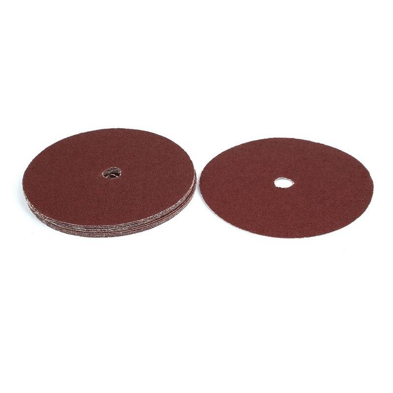 SHGO HOT-180Mm 7-Inch Dia 40 Grit Abrasive Sanding Disc Polishing Pad Sandpaper 10Pcs