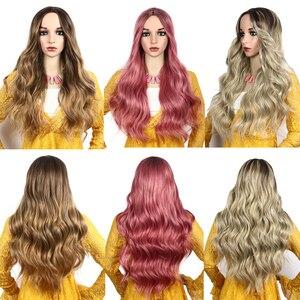 Image 5 - Toutbeau peluca ondulada de color gris para mujer, cabello largo ondulado con gorro de peluca gratis, fibra de pelo falso resistente al calor, 26 pulgadas, 260g