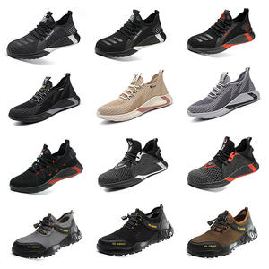 Casual Shoe Safety Footwear Camo Work-Sneakers Spring Steel Toe Breathable Mesh Puncture-Proof