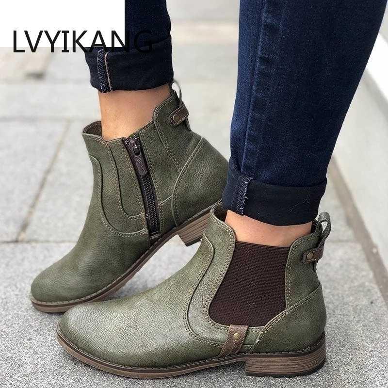 Yeni 2019 Kadın Çizmeler Sonbahar Kış Çizmeler Klasik Fermuar Kar yarım çizmeler Süet Sıcak Kürk Peluş Kadın Ayakkabı Fermuar bileğe kadar bot