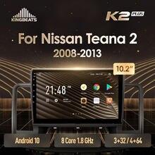 KingBeats Android 10 Octa-Core head unit HU 4G in Dash Car Radio Multimedia Video Player Navigation GPS For Nissan Teana J32 200