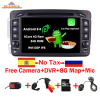 In Stock 7Android 9.0 Car DVD Player For Mercedes Benz CLK W209 W203 W463 W208 Wifi 3G GPS Bluetooth Radio Stereo audio media
