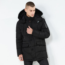 Winter Jacket Men  Cotton Padded Warm Parka Coat Casual Faux Fur Hooded Fleece Long Male Windbreaker men winter coat