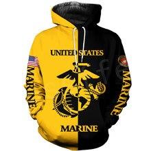 Tessffel America Marine Camo Skull Soldier Army Tracksuit NewFashion Pullover 3DPrint Unisex Zip/Hoodies/Sweatshirts/Jacket A-13