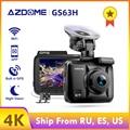 AZDOME Dash Cam GS63H 4K en velocidad GPS coordenadas WiFi DVR coche doble lente Cámara Dash cámara de visión nocturna cámara de 24H Park