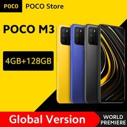 [Мировая премьера в наличии] глобальная версия POCO M3 смартфон 4 Гб 128 Snapdragon 662 6,53 дюймДисплей 6000 мА/ч, 48MP Камера мобильного телефона