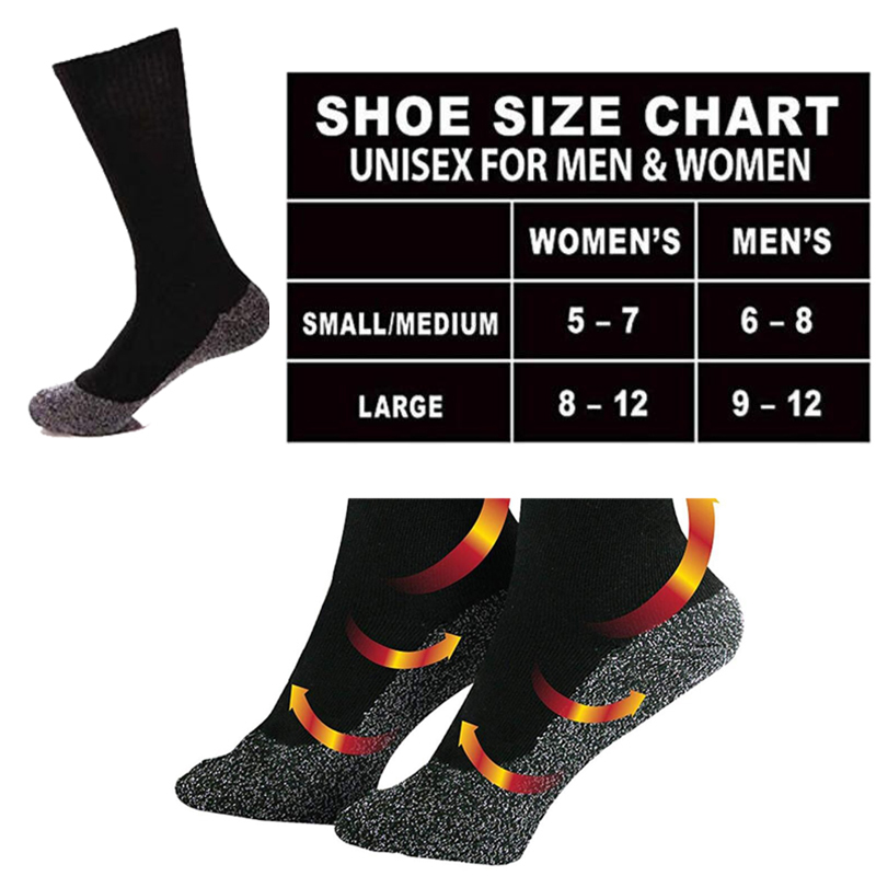 6 Pairs Ladies GENUINE Thermal Winter Warm Heat Holder Socks size 4-8 uk Black