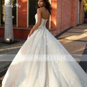 Image 4 - Adoly Mey ใหม่มาถึงเซ็กซี่ Lace Up A Line ชุดแต่งงาน 2020 Luxury Appliques Court รถไฟ VINTAGE ชุดเจ้าสาว PLUS ขนาด