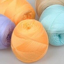 100 г мерсеризованная хлопчатобумажная смешанная пряжа ручная вязка не скатывается Проветриваемый для детского свитера ручной работы круто...