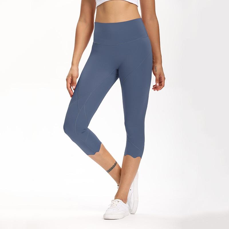 Cardism High Waist Sport Pants Women Yoga Sports Gym Sexy Leggings For Fitness Joggers Push Up Women Calf Length Pants Wave 7