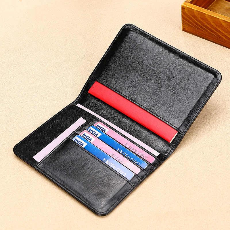 Etui na paszport RFID blokowanie prawdziwej skóry na pokrowcu na torba na paszport wielofunkcyjny podróż bilet lotniczy skórzany futerał portfel