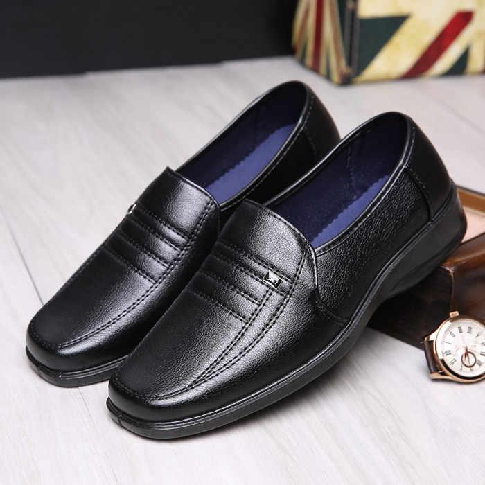 Black waterproof non slip shoes autumn