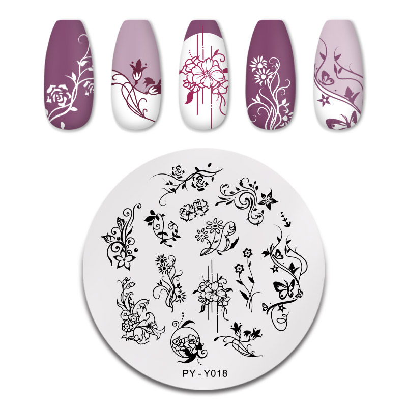 PICT YOU 12*6cm Nail Art Templates Stamping Plate Design Flower Animal Glass Temperature Lace Stamp Templates Plates Image 33
