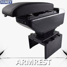 حامل أكواب من الجلد الأسود للسيارة ، صندوق رفع ، حاوية مريحة ، USB ، وحدة تحكم مركزية ، مسند ذراع