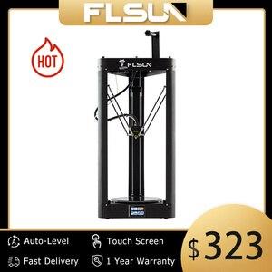 Image 1 - 3D Drucker Flsun QQ S PRO Delta Kossel Auto Level Verbesserte Lebenslauf Pre montage TFT 32bits bord impressora 3d Drucker