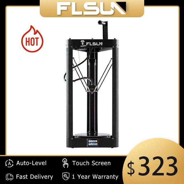 3D Printer Flsun QQ S PRO Delta Kossel Auto Level Upgraded Resume Pre assembly TFT 32bits board impressora 3d Drucker