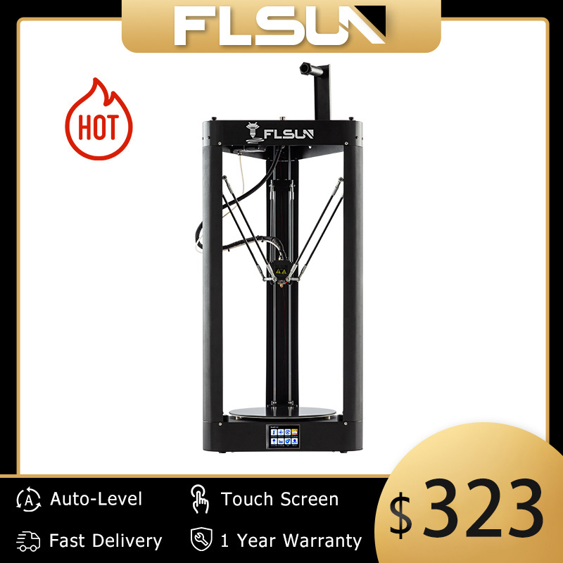 3D Drucker Flsun QQ S PRO Delta Kossel Auto-Level-Verbesserte Lebenslauf Pre-montage TFT 32bits bord impressora 3d Drucker