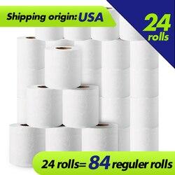 Papel higiénico, rollo de papel higiénico, 3 capas, para baño, 100%, pulpa de madera, papel de liar suave