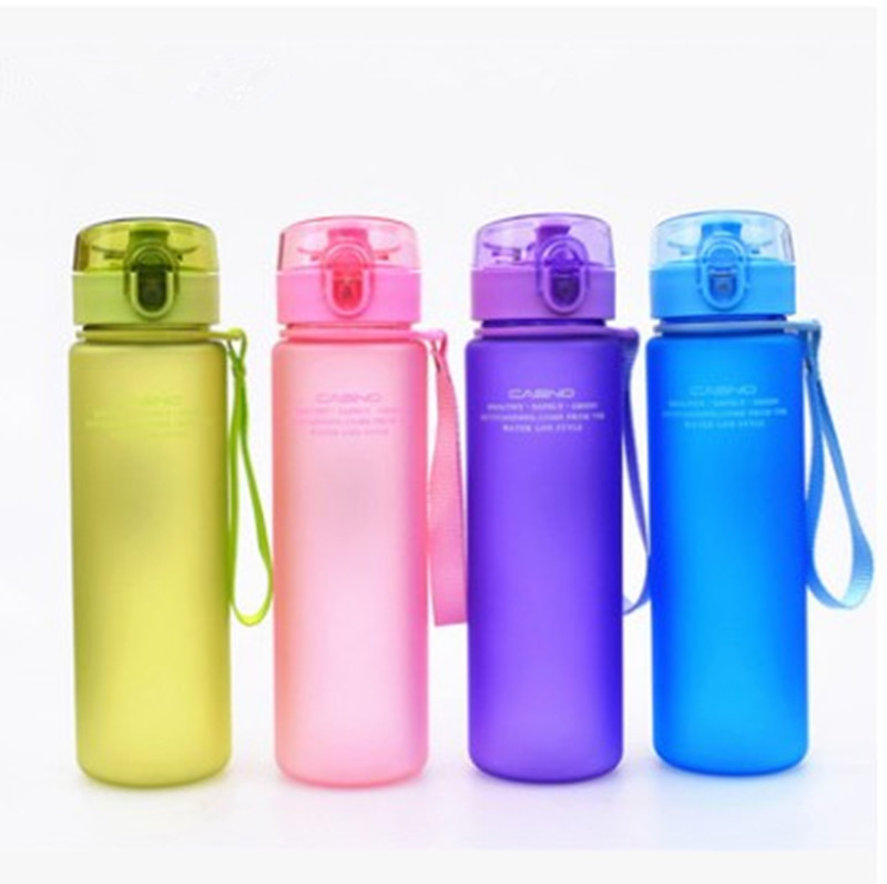 400ml 560ml School Leak Proof Direct Drinking Sports Water Gift Bottle High Quality Tour  Hiking Portable Bottles Drinkware-in Water Bottles from Home & Garden on AliExpress