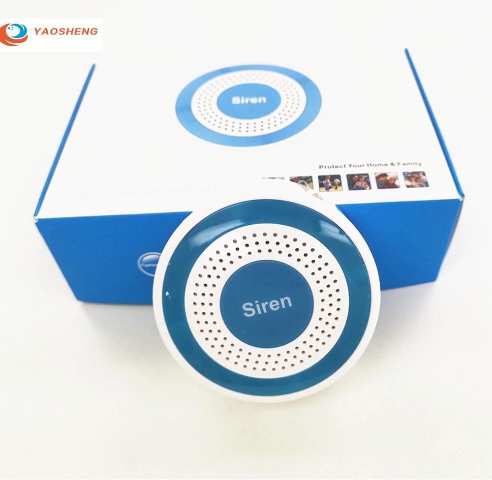 Mini Alarm Horn Strobe Sensor 433mhz Wireless Strobe Siren For GSM Standalone Hotel Home Security Alarm Panel System