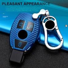 Soft TPU Carbon Fiber Car Remote Key Case Full Cover Fob Shell For Mercedes Benz A B R G Class GLK GLA w204 W251 W463 W176 W205