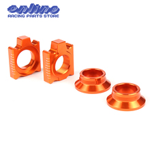 CNC Rear Chain Adjuster Axle Block And Rear Wheel Spacers/ Hub Collars For SX SX-F XC XC-F 125 250 350 450 530 Motorcycle
