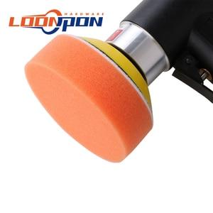 Image 3 - Nova lixadeira de ar mini máquina de moagem pneumática conjunto 2 polegada 3 polegada polidor polimento almofada kit para carro