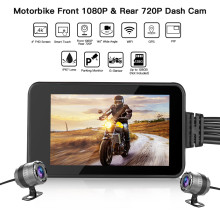 Blueskysea MT23 Waterproof Motorcycle Touch Screen Camera Moto GPS Dash Cam HD1080P Dual DVR Motorbike Dashcam WiFi