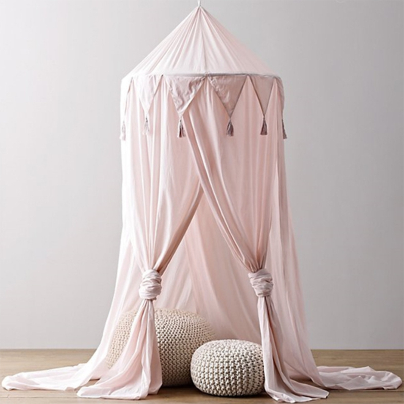 Kid Baby Bed Canopy Bed Cover Mosquito Net Curtain Bedding Round Dome Tent