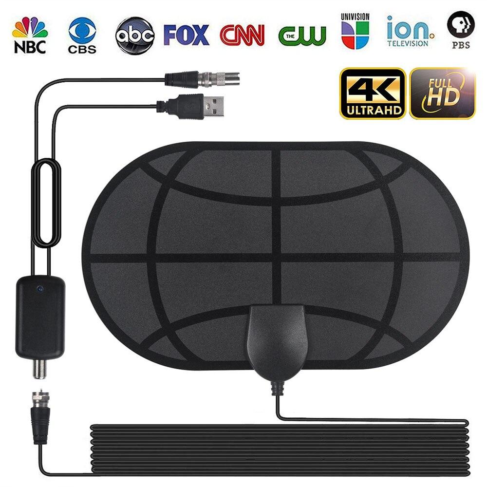 With Amplifier Signal Booster Active Indoor HD TV Radius Surf 980 Mile Range Antenna 4K Digital HDTV Indoor TV Antennas