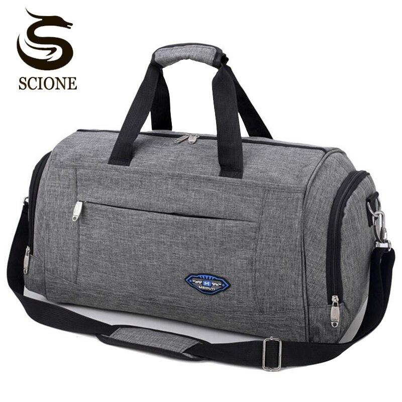 Hot Sports Travel Handbag Men Fashion Carry On Weekend Bags Vintage Casual Duffel Shoulder Bags Large Overnight Bag