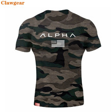 2019 New Clawgear  Mens Military Army T Shirt Men Star Loose Cotton T-shirt O-neck Alpha America Size Short Sleeve Tshirts