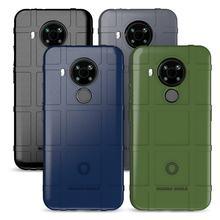Dla Nokia 5.4 case Nokia 6.3 7.3 5.3 Smartphone akcesoria wytrzymała tarcza tylna pokrywa gumowa ochronna dla Nokia 3.4 8.3 fundas