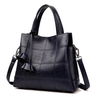 women big handbag genuine leather new women shoulder bag Pommax discount black women shopping bag