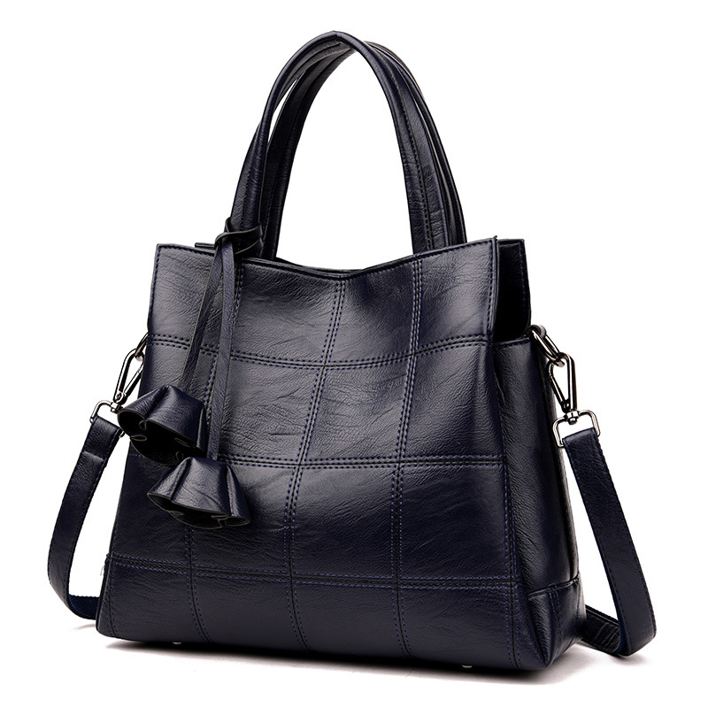 Women Big Handbag Genuine Leather New Women Shoulder Bag  Pommax Discount Black Women Shopping Bag