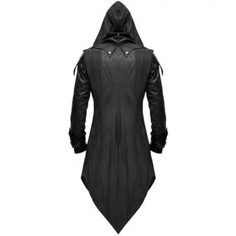 Vintage Halloween Hoody Trang Phục Áo Dài Tay Phong Cách Khoa Học Viễn Tưởng Áo Khoác Gothic Nuốt Đuôi Phối Trang Phục Hóa Trang Dài Sát Thủ Đồng Nhất