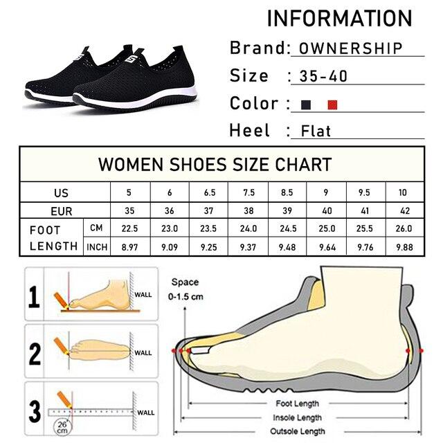 Zapatillas de deporte vulcanizadas 2020 para mujer, zapatos de malla para mujer, calzado informal antideslizante sólido y poco profundo, transpirables para mujer 6