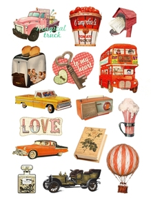 Vintage Stickers for Cars Notebook Decoration luggage trolley travel bag rock guitar skateboard Retro PVC Laptop Skins Sticker(China)