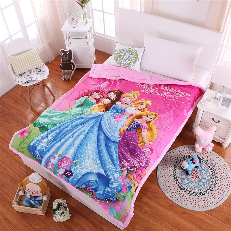 Disney Rapunzel Cinderella Princess Kids Girls Comforter Quilt Blanket Throw On Bed Sofa For Girls Boys 59x79inches 1.2m Bed
